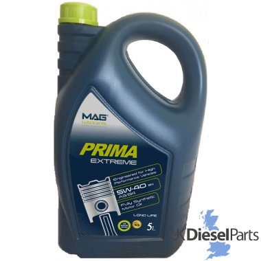Prima Extreme Fully Synthetic Oil SAE 5W40 5 Litres